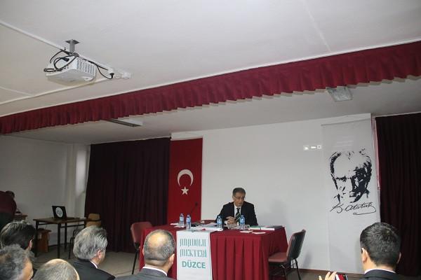 DÜZCE'DE ANADOLU MEKTEBİ TOPLANTISI