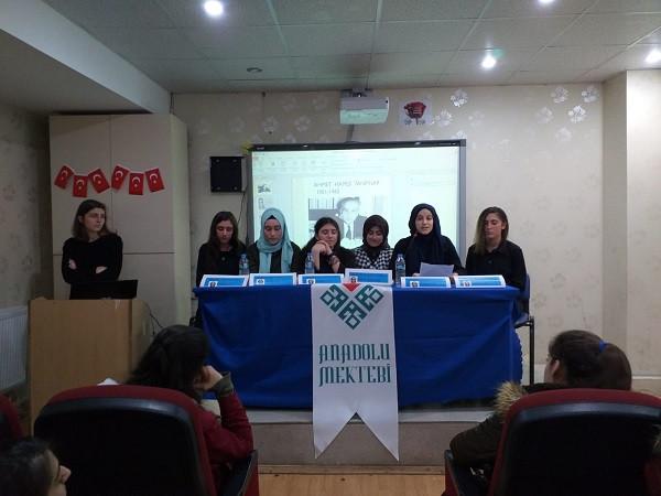 MARDİN'DE AHMET HAMDİ TANPINAR PANELİ