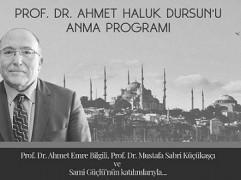 AHMET HALUK DURSUN'U ANMA PROGRAMI