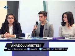 ANADOLU MEKTEBİ KANAL 5 YAYININDA